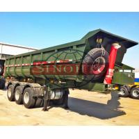 Quality Side Semi Dump Trailers Thtree Axle ABS Optional 50 Tons Payload Capacity for sale