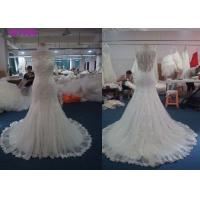 China Sleeveless Style Fit And Flare Wedding Dress , Woman Tulle Mermaid Bridal Gowns on sale