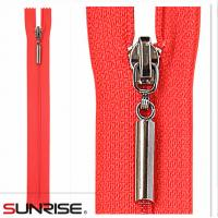 Quality High quality white seperating ykk wholesale closed end S40 woven zippers for garments for sale