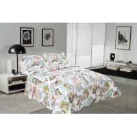 Quality Big Cockscomb Flower Quilted Bed Covers , Full Size Bed Quilt Sets With ISO9001 Certification for sale
