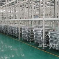 Quality Foldable Steel Wire Storage Container Bin Heavy Duty OEM Accept   800-1200mm  Width for sale