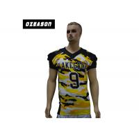 sublimated custom logo design plus size american football jersey uniforms