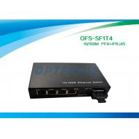 Best Optical 4 Port Ethernet Switch 10 / 100BASE - Tx 100BASE - Fx 125×27×85 mm wholesale
