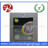 Quality OEM Resealable Plastic Hanger Bags With Ziplock For Llingerie for sale