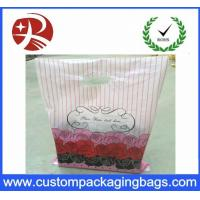 Quality Recyclable Dustproof Shopping Plastic Die Cut Handle Bag Customized Design for sale