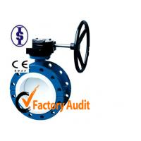 Quality Manual Casting U Type Butterfly Valve with Gear Box for Sewage , Sea Water , Air for sale