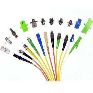 Single Core Fiber Optic Connectors Rectangular For Optical Network Equipment