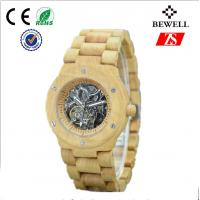 Fully Automatic Movement Men Wooden Watches , Wood Skeleton Watch