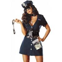 Quality Halloween Corrupt Cop Adult Princess Costume Sexy Police Officer Swat for sale