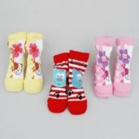 China Personalized Yellow / Red / Pink Kids Novelty Socks Shoes For Infants / Toddlers / Girls on sale