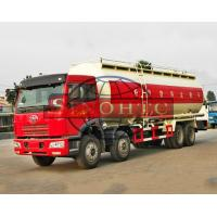 Quality FAW 40m3 Bulk Cement Truck 2 / 3 Seat J5P With A/C Cabin 8X4 Driving Type for sale