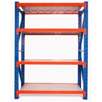 Quality 100kg Q235 Steel Metal Storage Shelves For Warehouse for sale