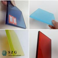 Quality China glass factory supply high quality color eva film laminated glass suppliers for sale