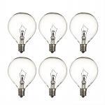 Quality Wax Warmer Bulbs Dimmable Incandescent Light Bulbs , G50 Round 25 Watt Incandescent Bulb for sale