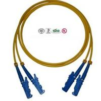Best Dual Core E2000 Patch Cord Fiber Optic Multimode / Singlemode Low Insertion Loss wholesale