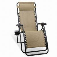 Best Zero Gravity Folding Chair/Luxury Chaise Lounge with Ø22mm Steel Tube and Lace-up Design wholesale