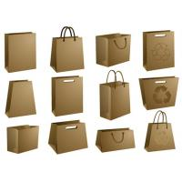 Quality brown paper bags with no handle for sale