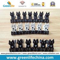 Quality New Selling Plastic Black/White Sheet Cat Shape Binder Paperclips for sale