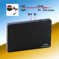 China Siren volume adjustable 2G/3G/4G support wireless security gsm alarm system sim card on sale