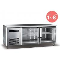 China Refrigerated Work Table For Kitchen 660L Commercial Refrigerator Freezer R134a Fan Cooling on sale