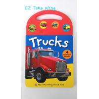 Custom Mold Toy Trucks Baby Sound Books for Indoor Kid's Eductational Learning