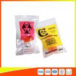 Quality Zip Lock Plastic Biohazard Specimen Bags / Vaccine Transport Bags Waterproof for sale