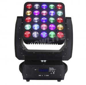 Quality 25*10W RGBW Moving Head Wash Lights , Disco DJ Club Stage Light 300W for sale