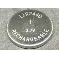 Quality Small Size Li Ion Button Cell 90mAh  LIR2440 Stable Reliable Work Easy To Install for sale