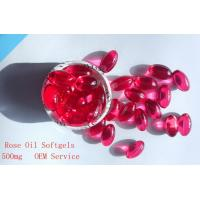 Quality Rose Oil Softgel,Health Food/Contract Manufacturing,Red Liquid Softgel for sale