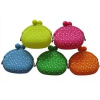 Quality White Polka Dots Silicone Coin Purse Eco-friendly Novel For Women for sale