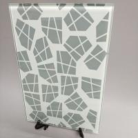 Buy cheap China silk screen printing ceramic frit color painted tempered glass supplier from wholesalers