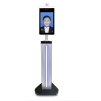 Quality AI Face Recognition Camera Body Floor Standing Temperature Scanner for sale