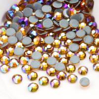 Quality Round Garment Hotfix Glass Rhinestones / Luxury Loose Colored Rhinestones for sale