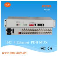 Quality SNMP based with Physical  isolation , 16 E1 plus 4FE/GE  PDH Fiber  optial multiplexer for sale