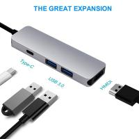 Buy cheap USB C HDMI HUB Adapter for MacBook Pro 2016/2017,4 in 1 USB 3.1 USB-C to HDMI from wholesalers