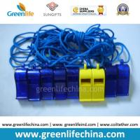 Quality Blue Dark ABS Material Wholesale Whistle for Promotional Usage with Strap Lanyard for sale