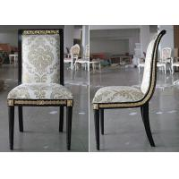 Best Gold - Leaf Style Modern Dining Room Chairs , Cream Fabric Sofa Seat Chairs wholesale