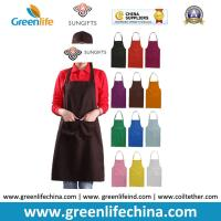 Quality 100%Polyester advertise apron assorted colors customized logo available for cooking clean for sale