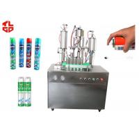 Best Auto Aerosol Can Filling Machine For Pesticide Insecticide , Aerosol Packaging Machine wholesale