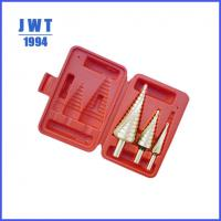 Quality JWT TIN coated hss step drill bit for sale