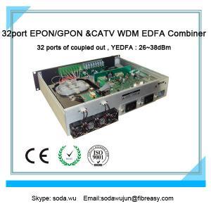 Quality Fiber transmission equipment of optical amplifier GEPON WDM Combiner 1550nm high power 32port PON EDFA for sale