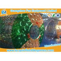 China PVC Colored  Inflatable Water Roller , Cylinder Giant Inflatable Ball To Ride In on sale