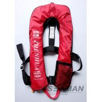 Quality EN ISO12402-3 CE 150N Inflatable Adult Life Jacket Vest With Safety Harness & Lifeline for sale