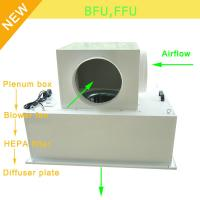 China Low Noise 65bBA Clean Room Blower Fan Filter With Large Airflow 0.35 - 0.75m/S Speed on sale