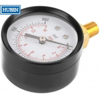 """Buy cheap Manometer Pressure Gauge Side/Bottom Entry M20x1,5 + 1/2"""" BSP Reduction 100mm from wholesalers"""
