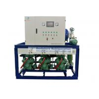 China Bitzer two stage piston type refrigeration compressor unit for R404a blast freezers on sale