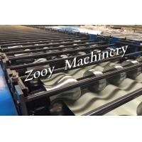 Quality Panasonic PLC Control Roof Tile Roll Forming Machine With 20KW Main Power, Hydraulic Cutting for sale