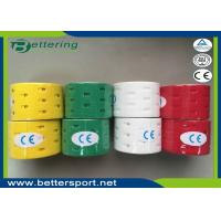 Punch Hole Kinesiology Tape Kinesio tape Roll Cotton Elastic Adhesive Muscle Sports Tape Physio Strain Injury Support
