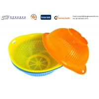 Quality Eco Friendly Plastic Kitchenware Small Round Plastic Basket for vegetable , yellow color for sale
