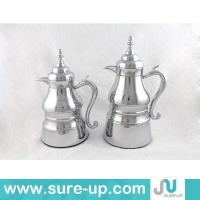 Quality arabic coffee pot, metal water jug glass refill for sale